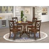 Alcott Hill® Mabella-MAH-W 5 Pc Dining Set - Mahogany Small Kitchen Table w/ 4 Dining Room Chairs - Mahogany Finish | Wayfair