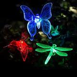Solar Stake Light Solar Decorative Ground Plug Lights Multi Color Changing LED Garden Butterfly Lights 2 Pack Solar Lights Outdoor for Garden Lawn (Hummingbird & Hummingbird)