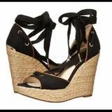 Michael Kors Shoes | Michael Kors Wedge Heel Sandals 7.5m | Color: Black/Gold | Size: 7.5