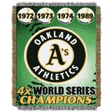 Athletic A's Commemorative Series Throw by MLB in Multi