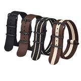 Ritche 20mm Military Ballistic Nylon Watch Strap Compatible with Timex Expedition Watch Strap Timex Replacement Watch Bands for Men Women (4 Packs)