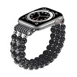 TOMMEIE Handmade Bracelet Compatible with Apple Watch Band,38mm 40mm fashion charm jewelry beaded elastic band inlaid rhinestone Fancy bracelet for iWatch Series SE/6/5/4/3/2/1 Women Girl Gift