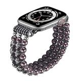 TOMMEIE Handmade Bracelet Compatible with Apple Watch Band,42mm 44mm fashion charm jewelry beaded elastic band inlaid rhinestone Fancy bracelet for iWatch Series SE/6/5/4/3/2/1 Women Girl Gift