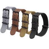 Ritche 4PC 22mm Nylon Strap Nylon Watch Band Replacement Watch Straps for Men Women (4 Packs)