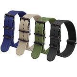 Ritche 16mm Nylon Strap Nylon Watch Band Replacement Watch Straps for Men Women (4 Packs)