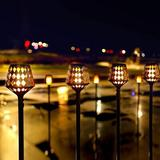 GoodDogHousehold 4Pcs Solar Torch Lights, 35.5 Inch 117 LED, Waterproof Landscape Garden Pathway Light w/ Vivid Dancing Flickering Flames | Wayfair
