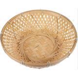 Bayou Breeze Bread Serving Basket Wicker Fruit Basket Rattan Food Storage Basket Wicker Tray Handmade Basket Decorative Bowl Snack Gift Basket For Kitchen HomeWicker