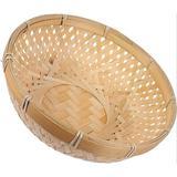 Bay Isle Home™ Bread Serving Basket Wicker Fruit Basket Rattan Food Storage Basket Wicker Tray Handmade Basket Decorative Bowl Snack Gift Basket For Kitchen HomeWicker