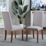 Canora Grey Upholstered Dining Chairs Set Of TwoWood/Upholstered/Fabric in Gray, Size 39.17 H x 17.72 W x 24.41 D in | Wayfair