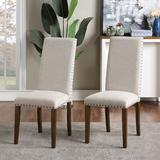 Canora Grey Upholstered Dining Chairs Set Of TwoWood/Upholstered/Fabric in Brown, Size 39.17 H x 17.72 W x 24.41 D in | Wayfair