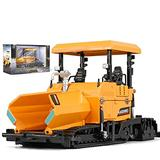 IIIL Metal Die-Cast Dump Truck Road Roller Engineering Vehicle 1/40 Scale Alloy Paver Toy Construction Alloy Models Toys for Kids and Decoration for House,Yellow