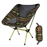 Portable Foldable Chairs, Collapsible Camping Chair with Tropical Style Pattern, Beach Chair with Backpack, Lightweight Backpack Chair Outdoor Chair for Outdoor, Camp, Picnic, Hiking (Color : B)