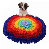 OUHGNS Snuffle Mat for Pet Dogs Slow Feeding Mat Food Dispensing Dog Sniffing Treat Foraging Training Pad Puppy Puzzle Toys Pet Supply