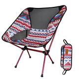 Portable Foldable Chairs, Collapsible Camping Chair with Tropical Style Pattern, Beach Chair with Backpack, Lightweight Backpack Chair Outdoor Chair for Outdoor, Camp, Picnic, Hiking (Color : C)