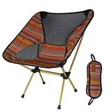 Portable Foldable Chairs, Collapsible Camping Chair with Tropical Style Pattern, Beach Chair with Backpack, Lightweight Backpack Chair Outdoor Chair for Outdoor, Camp, Picnic, Hiking (Color : D)