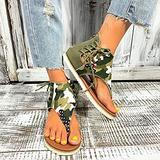 Oaimmk Women's Summer Thong Sandals Retro Boho T-Strap Backstrap Sandal Casual Beach Shoes T-Strap Roman Open Toe Sandals,C,35 CN