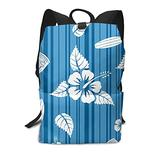 Aloha Blue Striped Youth School Backpacks Llightweight And Durable Laptop For Men And Women Travel Bag