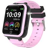 Kids Smart Watch -Kids Games Smart Watch for Boys Gilrs with 20 Games Dual Camera Music Player Flashlight Video Alarm Clock Games Smart Watch Phone Touch Screen Children Smartwatch for Kids(Pink
