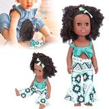 Baby Dolls, Soft Body, 13.7in High Simulation Washable Hair, Reborn Dolls, Curly Hair for Kids Adults(Q14-47 Geometric figure installation)