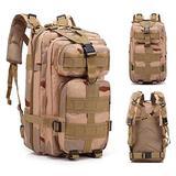Hiking & Camping Outdoor Backpack Shoulders Bag 30L Sand Color Camouflage