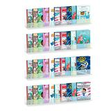 AHPL 5mm Thick Multipurpose Wall Mounted Shelves | Book Shelves for Kids Room | Easy to Install & Sturdy Floating Bookshelf (4 Pack, 36 Inch)