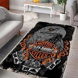 """Harley Rug, Area Rugs for Living Room, Bedroom Rug, Home Decor Rug,Harley Davidson Gifts, Carpet, Rug, Modern Rug, Popular Rug,Themed Rug, Rug for Living Room Hrly5.1 (31""""x59"""")=80x150cm"""