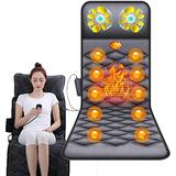 GAXQFEI Full Body Massage Mat, Heat Back Massage Chair Pad with 10 Vibration Motors for Leg & Back Pain Relief