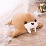 Plush Stuffed Toy, Cute Plush Baby Walrus Toy Soft Stuffed Animal Doll Can Hug Marine Animal Toys to Give Children Gifts 55cm Brown
