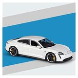 Car Model 1:24 for Pors-Che for Taycan Turbo S Alloy Sports Car Model Metal Diecast Toy Vehicle Model Kids Gift Collection (Color : White)