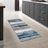 Kitchen Runner Rug Modern Non-Slip (Non-Skid) Runner 27.5Inch X 8Feet Indoor/Outdoor Runner Carpet Custom Length Home Decor Area Rug,Multicolored