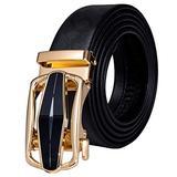 SKREOJF Leather Men's Belt for Men Buckle Belt Automatic Ratchet Waist Belt Black Jeans Strap (Color : D, Size : 115CM)