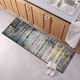 Runner Rug for Kitchen Floor Non Slip, Carpet Runner 23.5Inch X 10Feet Indoor/Outdoor Runner Carpet Custom Length Home Decor Area Rug,Grey Gold