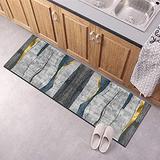 Hallway Runner Rug, Kitchen Floor Non Slip Runners 35.5Inch X 11Feet Indoor/Outdoor Runner Carpet Custom Length Home Decor Area Rug,Geometry Grey