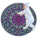 Non Skid Rug Nursery Rug Round Area Rugs Rug entryway Indoor Round Bedroom Rug Mandala Floral Pattern 31.5x31.5IN