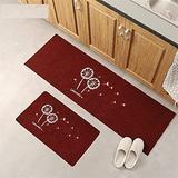 Kitchen Rugs and Mats Washable Non-slip Long Kitchen Floor Mat Bathroom Entrance Door Mat for Floor, Durable Kitchen Rugs and Mats for Kitchen & Laundry (Color : B, Size : 40x120CM)