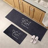 Kitchen Rugs and Mats Washable Non-slip Long Kitchen Floor Mat Bathroom Entrance Door Mat for Floor, Durable Kitchen Rugs and Mats for Kitchen & Laundry (Color : F, Size : 40x120CM)