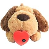 Heartbeat Puppy Toy, Snuggle Puppy Heartbeat Stuffed Plush Dog Toy, Puppy Toy with Heartbeat Stuffed Animal Anxiety Claming Behavioral Aid Plush Toy for Dogs Cats Pets (Dog)