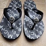 Michael Kors Shoes | Beautiful Michael Kors Kids Slippers | Color: Black/White | Size: Big Kids Youth Size 2-3