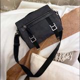 Gucci Bags | Auth. Gucci Rare Dark Denim Small Messenger Bag | Color: Black/Gray | Size: 10 X 2 X 8