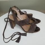 Madewell Shoes | Madewell Octavia Tassel Suede Block Heel Sandal 9 | Color: Brown | Size: 9