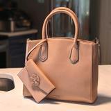 Nine West Bags | Nine West Peachpink Purse Mini Clutch Set | Color: Pink/Tan | Size: Os