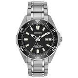 Citizen Eco-Drive Promaster Diver Quartz Mens Watch, Super Titanium, Two-Tone (Model: BN0200-56E)