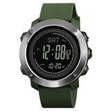 Mens Digital&Analog Watch with Compass Thermometer Pedmmeter Sports Watch with Altimeter Calorie Countdown Barometer Alarm