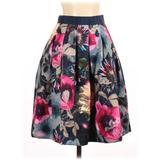 Ted Baker London Formal Skirt: Blue Color Block Bottoms - Size 2