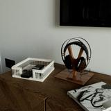 """Dovecove Canaan Square Guest Towel Napkin Holder, 7.1""""X7.1"""" Rustic Paper Hand Towels Storage Tray Dispenser Rattan Buffet Napkin Caddy For Kitchen"""