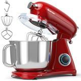 Costway 7 Quart 800W 6-Speed Electric Tilt-Head Food Stand Mixer-Red