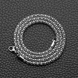 QAPZI Fashion Necklace Pendant Classic Choker Fashion Titanium Steel Corn Chain Stainless Steel Chain Men and Women Popular Necklace Jewelry Lover Anniversary Party Gifts