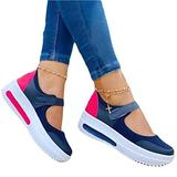 YXLYLL Women's Wedge Wedge Shoes Summer Breathable Casual Platform Sneakers Sandals One Pedal Sandals Sneakers Sky blue-37