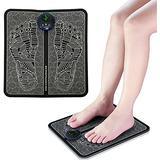 S-SNAIL-OO Pro Electrode Foot Stimulator Mat, EMS Foot Massager USB Rechargeable Electric Foot Stimulator Massager, EMS Leg Reshaping Foot Massager, 6 Modes 9 Lntensity Leg Stimulator Mat (LCD)