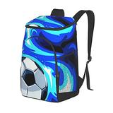 Soccer Ball Insulated Cooler Backpack ,Soft Cooler Bag Lightweight Backpack Cooler for Lunch Picnic Hiking Camping Beach Park